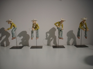 COWBOYLOCOMOTION, Bram Verstraeten, metal plate, clay.