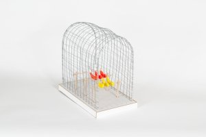 BIRD CAGE, Bram Verstraeten, wood, wire.