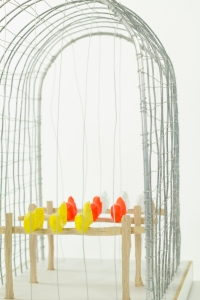 BIRD CAGE, Bram Verstraeten, wood, iron.